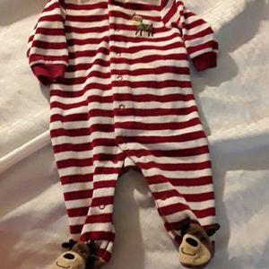 Carters Christmas pajamas size 3 mths with Raindee